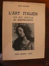 ancien livre l'art italien au XVe siecle alazard 1951
