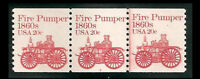 US #1908   Plate #7  Fire Pumper // MNH OG Plate Number Coil Strip [PNC3]