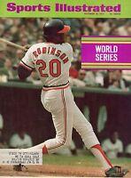 1971 Sports Illustrated magazine baseball Frank Robinson, Baltimore Orioles GOOD