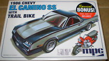 MPC 1/25 1986 Chevy El Camino w/Trail Bike Plastic Model Kit MPC888/12 New Nib