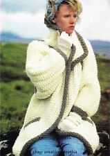 (84) Knitting Pattern for Ladies Super Chunky Knit Coat/ Jacket