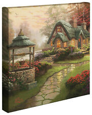Thomas Kinkade Make A Wish Cottage 14 x 14 Gallery Wrapped Canvas