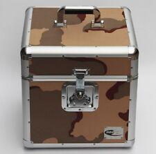 "Zilla LP100 12"" Vinyl Record LP Storage Box Flight Carry Case Army Khaki Camo"