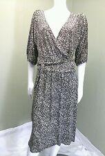 George Brown Animal Print Wrap Dress~Size 12/14