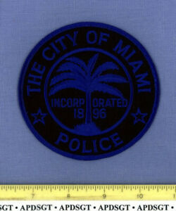 MIAMI ~ SWAT FLORIDA Sheriff Police Patch SUBDUED TACTICAL PALM TREE