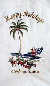 "Bamboo Cay Christmas Edition - WHITE ""Surfing Santa"" Back (Size Options)"