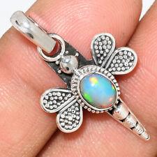 Dragonfly - Ethiopian Opal 925 Sterling Silver Pendant Jewelry AP170149