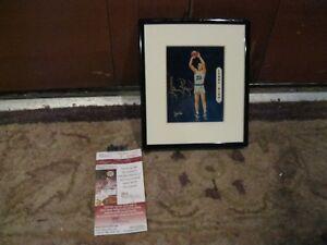 Larry Bird signed 6x7 display JSA