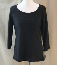 Liz Claiborne Career, Large, Black Textured Knit Top, New with Tags
