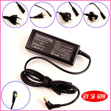 12 Volt 5 Amp (12V 5A) DC Supply AC Power Cord Adapter Charger LCD New + CORD