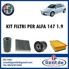 KIT DE 4 FILTROS MANTENIMIENTO ALFA ROMEO 147 1.9 JTD 16V 93KW 126CV DESDE 03