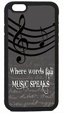 Music Clef Treble New Fashion Case Cover for iPhone 4 4s 5 5s 5c 6 6+ Black