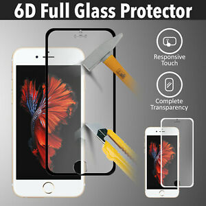 Screen Protector for APPLE iPhone 8 7 6 Plus 6D 9H Full Covered Tempered Glass