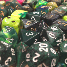 Chessex BY COLOR - 3 ounces assorted GREEN dice from Pound-O-Dice - Pound Dice