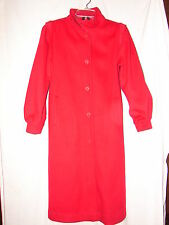 Red Long Electre Paris Pure Virgin Wool Coat - Designer Coat size small 5-6
