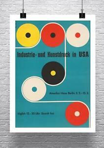 Mid Century Modern Design Exhibition Poster Premium Canvas Giclee Print