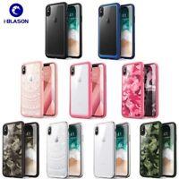 For iPhone XS X 6 6S Plus 7 8 Plus Genuine i-Blason Slim Clear Bumper Case Cover