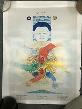 Vintage Mantak Chia Qi Gong Acupuncture TCM Poster Chart - Six Healing Sounds