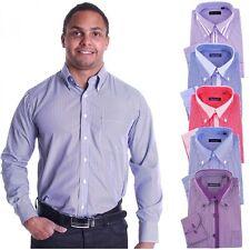 Maschinenwäsche Klassische Herrenhemden im Button-Down-Kragen-Stil mit Krempelärmel-Ärmelart ohne Mehrstückpackung