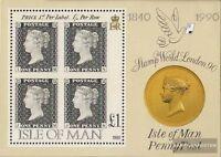 GB-Insel Man Block12 (kompl.Ausg.) postfrisch 1990 150 Jahre Briefmarken
