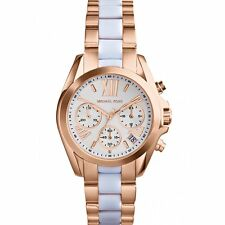 Michael Kors MK5907 Parker white rose gold Parker Chronograph Women's Watch new