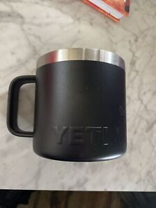 YETI Rambler 14 oz. Stainless Steel Coffee Mug With Company Logo-Black