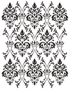 Dixie Belle Royal Damask Stencil 14x18 New, free shipping on orders > $35