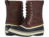 Sorel 1964 Premium T Leather Waterproof Snow Boot, Tobacco Brown, Men's Size 7