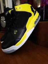 Black & Yellow Jordan Flight Kids Shoes