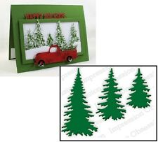 Impression Obsession EVERGREEN TREES Steel Die Set DIE217-E