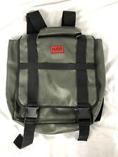 Hugo Boss Messenger Backpack Convertible Laptop Green Bag Neoprene