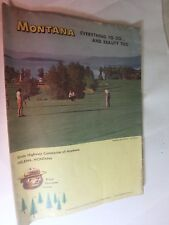 vintage state road and vacation guide- Highway commission- MONTANA 1962