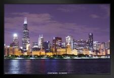 Chicago Illinois Skyline Photograph Art Framed Poster 12x18