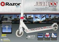 New Razor Pro Xx Silver Scooter Aluminum Trick Freestyle Stunt Kick 8+ years Nib