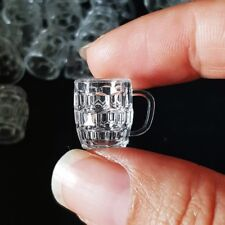 10x Clear Beer Acrylic Glass Cup Dollhouse Miniature Barbie Supply Wholesale Lot