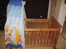 Bett Kiefer massiv, LF 70x140 cm, auch schon für Babys geeignet, Rost 4-fach ver
