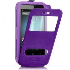 Etui Coque Silicone S-View violet Universel XL pour Logicom Le Starter L