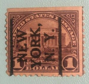U.S. Series of 1922-25 $1 Lincoln Memorial Issue Date: February 12, 1923