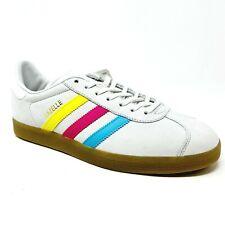 Adidas Originals Gazelle Bright Stripes White Pink Blue Yellow BB5252 Mens