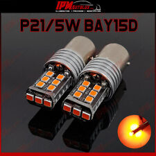 P21/5W BAY15D 1077 Kit Set Rear Tail Light Bright Red LED Bulbs CANBUS
