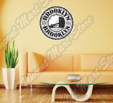 "Brooklyn New York USA United States Wall Sticker Room Interior Decor 22""X22"""