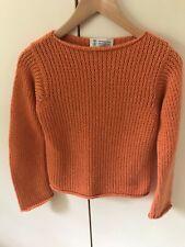 Brunello Cucinelli 100% Cashmere burnt orange 4 ply short jumper. Size small