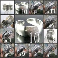 10 style ! Beautiful!Tibetan Tibet Silver Totem Bangle Cuff Bracelet