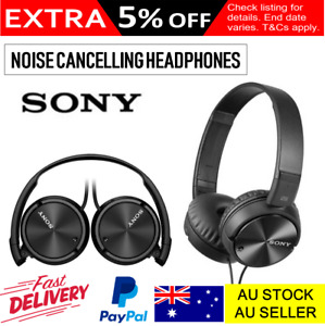 Sony Headphones Noise Cancelling Stereo Headsets Portable Audio Sony Black