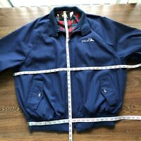 Jacket Mens 2X Navy Blue Vtg USA King Louis Pro Fit Harrington Coat Delta Logo