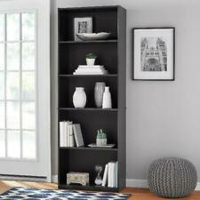 Bookshelf Furniture Bookcase Adjustable Storage Shelving 5-Shelf Wood Free Ship.