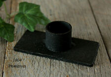 Primitive Black Iron Candle Holder for Candle Tapers