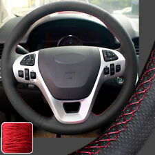 Real Leather Steering Wheel Covers for Ford Edge 11-14 Taurus 13-16 Explorer 12