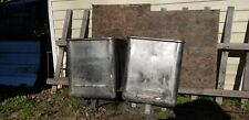 2 Large Industrial Stainless Steel Containers With Wheels Factory Carts