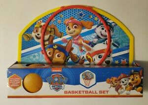 New Paw Patrol Basketball Set - Nickelodeon - Hoop, Net, Hangar & Ball.